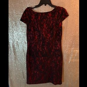 ALYX Red and Black Lace Dress